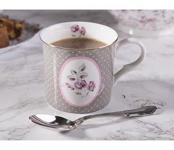 Katie Alice Ditsy Floral; Engels Servies met bloemen Copy of porseleinen mok blauw met ovaal