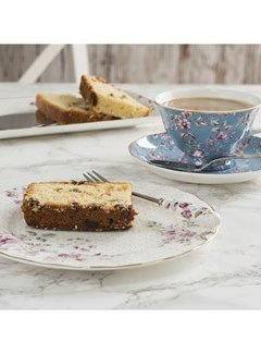 Katie Alice Ditsy Floral; Engels Servies met bloemen Katie Alice Ditsy Floral fine bone china set- kop&schotel en bord