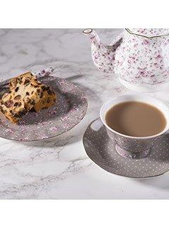 Katie Alice Ditsy Floral 3-delig theeset grijs gebloemd