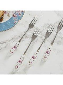 Katie Alice Ditsy Floral; Engels Servies met bloemen porseleinen gebaksvorkjes