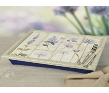 KitchenCraft; Engelse Kwaliteitsprodukten Laptray - Etude de Fleurs