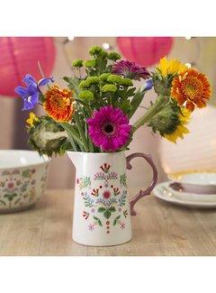 Katie Alice Festival Folk; Kleurrijk Engels Servies met bloemen Schenkkan