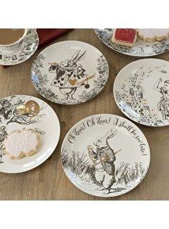 V&A Alice in Wonderland Set van 4 bordjes