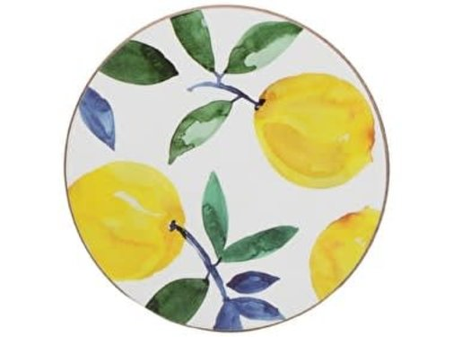 KitchenCraft; Engelse Kwaliteitsprodukten Set van 4 onderzetters citroen, lemon