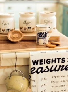 "Creative Tops; Engelse Kwaliteitsprodukten Farmers Market voorraadpotten ""Coffee,Tea,Sugar"""
