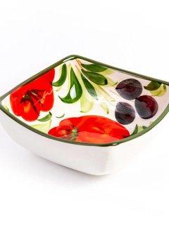 Zisensa, private collection Unieke woonaccessoires vierkant dipe schaaltje tomaat, klein