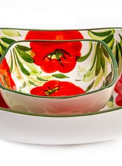 Zisensa, private collection Vierkante diepe schaal tomaat