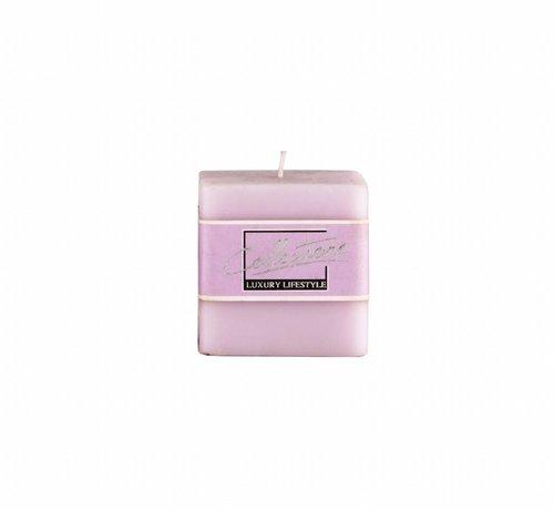 Couronne Vierkante kaars  7,5cm x 7,5 cm, Lavendel