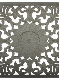 Couronne Wandpaneel Casafiori vierkant groot donker grijs