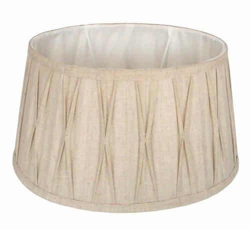 Couronne Landelijke lampenkap plisse ovaal naturel 47 cm.