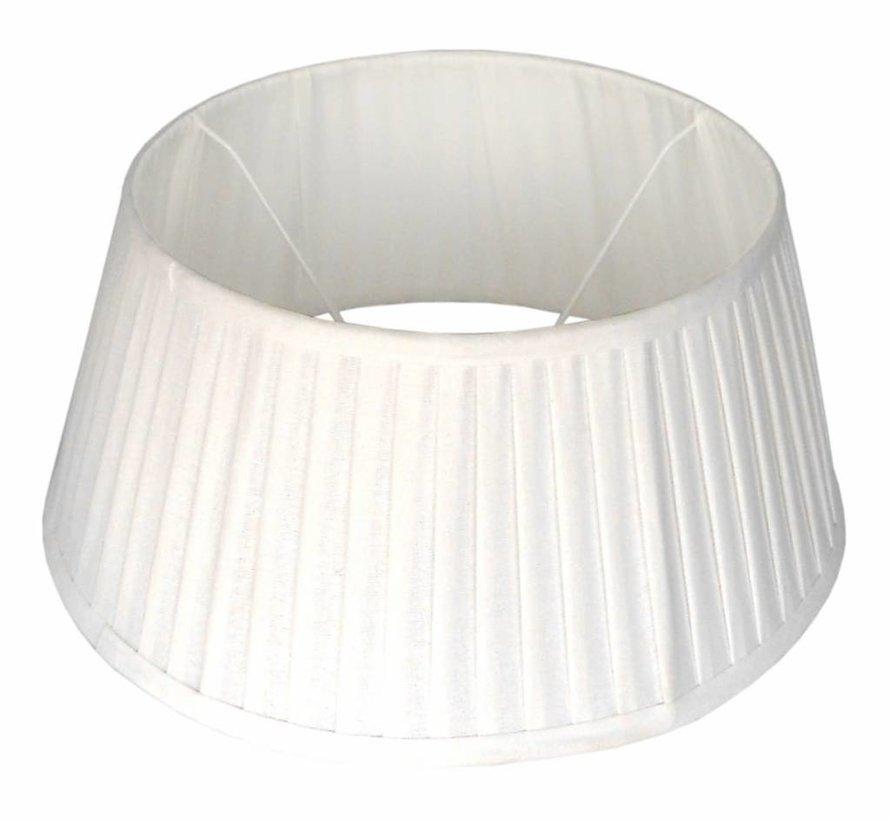 Klassieke lampenkap plisse wit rond 35cm.