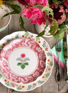 Katie Alice Festival Folk; Kleurrijk Engels Servies met bloemen Katie Alice Festival Folk ontbijtbord roze