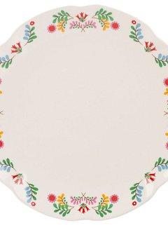 Katie Alice Festival Folk; Kleurrijk Engels Servies met bloemen Dinerbord