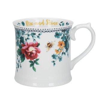 Katie Alice Bohemian Spirit; Engels wit porseleinen servies geel met bloemen Katie Alice Bohemian Spirit mok met bloemenmotief