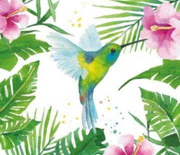 Zisensa, private collection Unieke woonaccessoires Servet Tropical Hummingbird