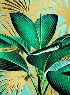 Zisensa, private collection Servet  Tropical Leaves