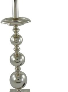 Zisensa, private collection Unieke woonaccessoires Lamenvoet bol 47cm. nickel