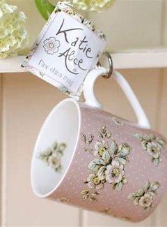 Katie Alice Cottage Flower; Compleet Vintage Servies met bloemen fine china mok - roze bloemen