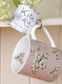 Katie Alice Cottage Flower porseleinen roze mok bloemen