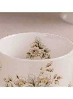 Katie Alice Cottage Flower; Compleet Vintage Servies met bloemen fine china mok - crème
