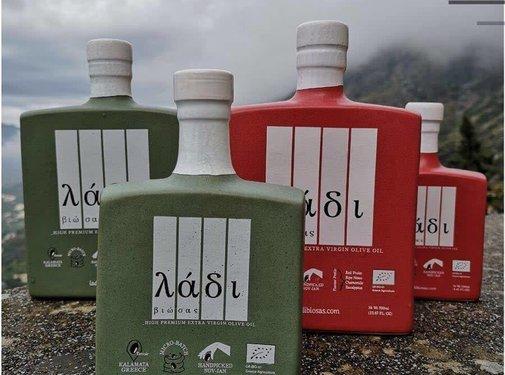 Ladi Biosas; Griekse streekprodukten Copy of Griekse olijfolie keramische rode fles Ltd. 250ml