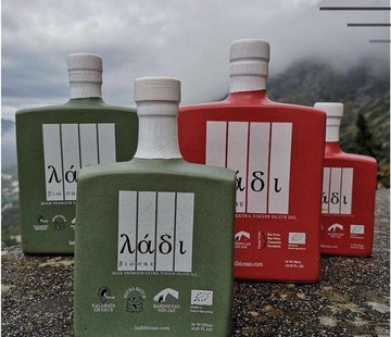 Ladi Biosas; Griekse streekprodukten Copy of Griekse olijfolie keramische groene fles Ltd. 250ml