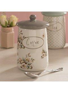 Katie Alice Cottage Flower; Compleet Vintage Servies met bloemen Porseleinen voorraadpot -coffee-