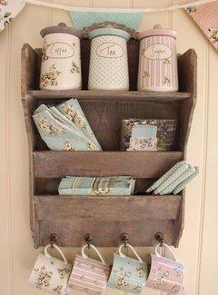 Katie Alice Cottage Flower; Compleet Vintage Servies met bloemen Keramieken voorraadpot -tea-