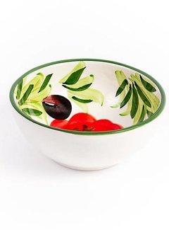 Zisensa, private collection Unieke woonaccessoires Anti Pasta schaaltje tomaat/olijf