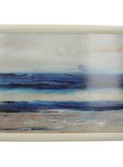 KitchenCraft; Engelse Kwaliteitsprodukten Laptray premium Blauw abstract -zee-