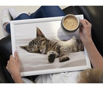 KitchenCraft; Engelse Kwaliteitsprodukten Laptray premium slapende poes