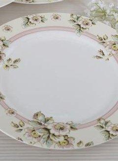 Katie Alice Cottage Flower; Compleet Vintage Servies met bloemen porseleinen dinerbord