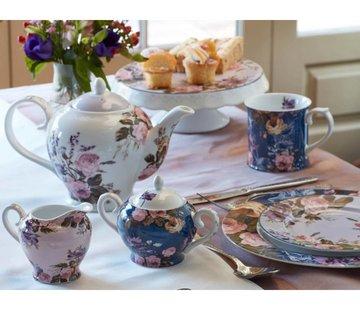 Katie Alice Wild Apricity; Compleet Engels Jachtservies met bloemen Katie Alice Wild Apricity 6 kops theepot