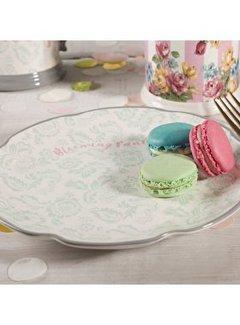 Katie Alice Blooming Fancy ontbijtbord, gedecoreerd in een Paisley textielmotief voorzien van tekst