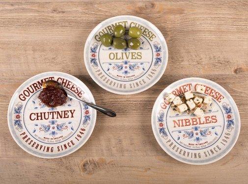 KitchenCraft; Engelse Kwaliteitsprodukten Gourmet Cheese Set van 3 serveerschaaltjes