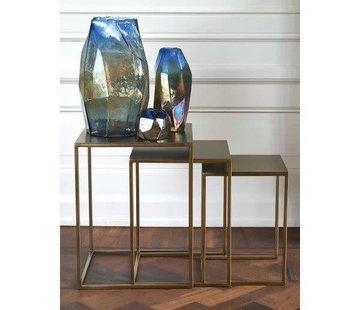 Zisensa, private collection Unieke woonaccessoires Disco Luster Vaas blauw  -m-