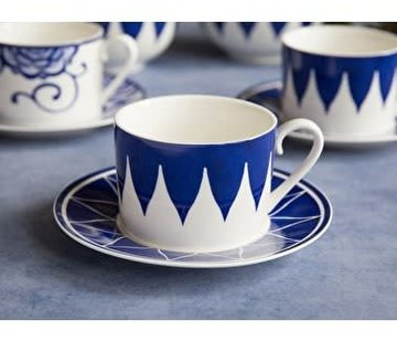 V&A The Cole Collection Triangle Geo Kop & Schotel blauw,wit