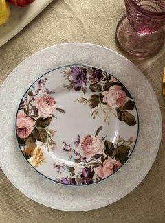 Katie Alice Wild Apricity Ontbijtbord, grijs met bloemmotief