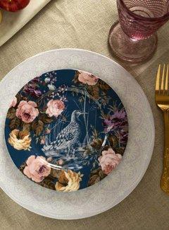 Katie Alice Wild Apricity Ontbijtbord,blauw met vogel en bloemmotief