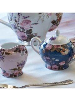 Katie Alice Wild Apricity; Compleet Engels Jachtservies met bloemen Katie Alice Wild Apricity suiker en melkstelletje