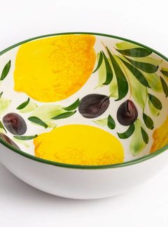 Zisensa, private collection Unieke woonaccessoires Copy of Grote ronde schaal met citroenen & olijven
