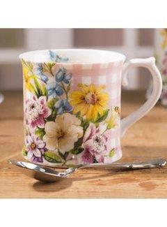 Katie Alice English Garden; Compleet Engels Porseleinen servies met bloemen Porseleinen mok - roze