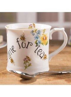 Katie Alice English Garden; Compleet Engels Porseleinen servies met bloemen Porseleinen mok - busy bee