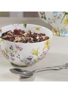 Katie Alice English Garden; Compleet Engels Porseleinen servies met bloemen Porseleinen ontbijtschaal wit gebloemd