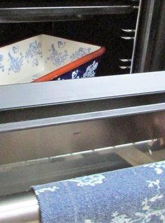 Lavandoux-Ceramics Lavandoux; Floral Lace Blue Ovenschaal - rechthoek