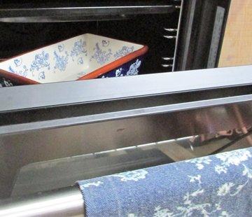 Lavandoux-Ceramics; Prachtige ovenschalen Lavandoux; Floral Lace Blue Ovenschaal - rechthoek