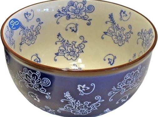 Lavandoux-Ceramics; Prachtige ovenschalen Floral Lace Blue blauwe OvenKom - Ø17cm