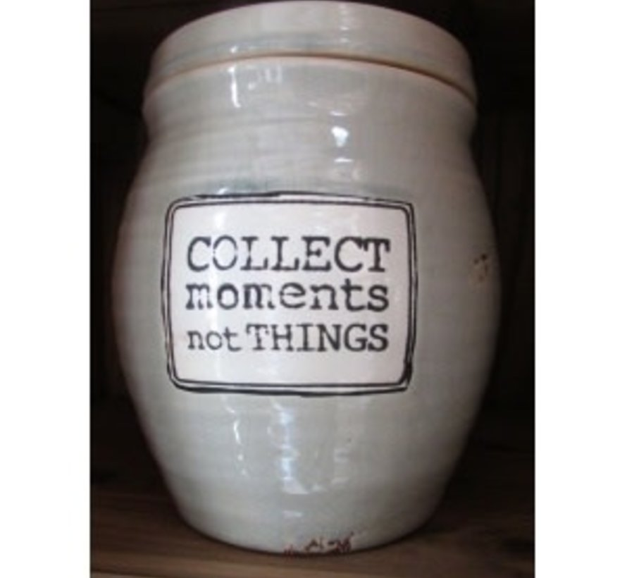 Aardewerk Voorraadpot - Collect Moments not Things