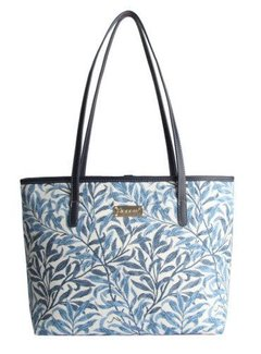 Zisensa, private collection Unieke woonaccessoires Blauw witte schoudertas Willow Bough