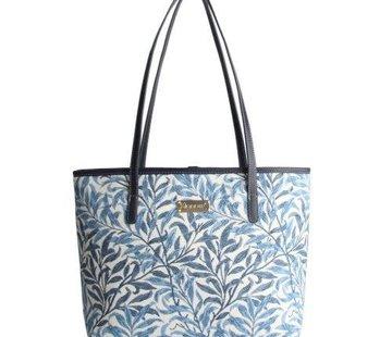 Zisensa, private collection Unieke woonaccessoires Blauw witte schoudertas Willow Bough